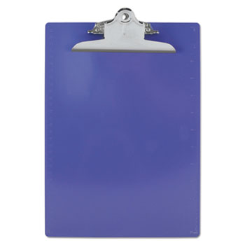 "Recycled Plastic Clipboards, 1"" Capacity, Holds 8 1/2w x 12h, Purple"