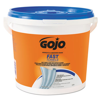 GOJO® FAST TOWELS™ Hand and Surface Towels, 7 3/4 x 11, 130/Bucket, 4 Buckets/CT