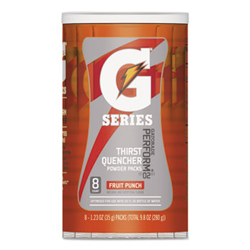 Thirst Quencher Powder Drink Mix, Fruit Punch, 1.34oz Stick, 64/CT