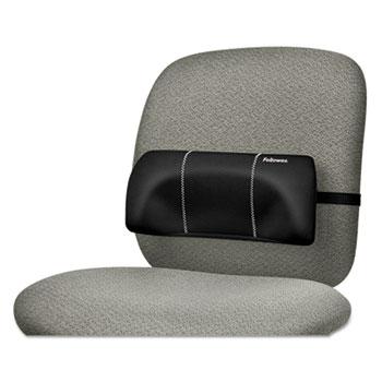 "Fellowes® Lumbar Back Support, 12""W x 3.125""D x 5.187""H, Black"