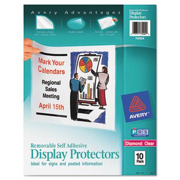 Removable Self-Adhesive Display Protectors, 10/PK