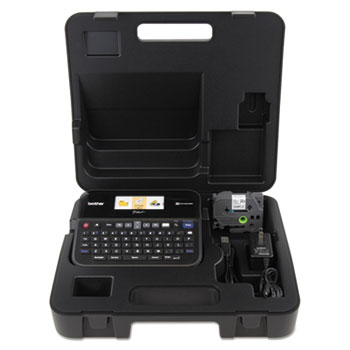 Brother P-Touch® PT-D600VP PC-Connectable Label Maker with Color Display and Carry Case, Black