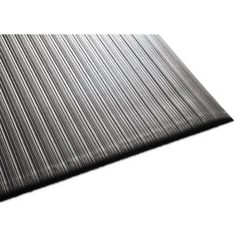 Air Step Antifatigue Mat, Polypropylene, 36 x 60, Black