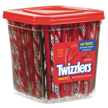 Twizzlers® Strawberry Twists Licorice, 3.95 lb., 180/PK