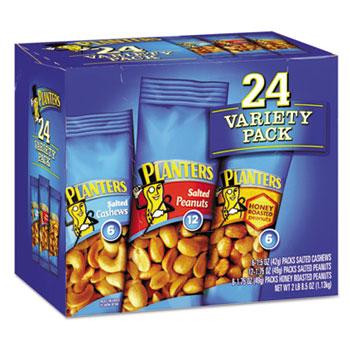 Variety Pack Peanuts & Cashews, 1.75 oz/1.5 oz Bag, 24/CT