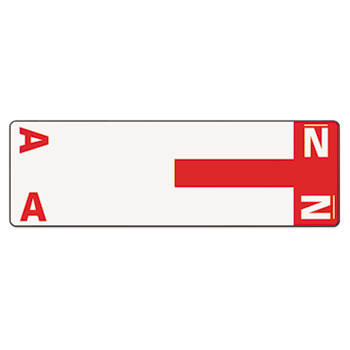 Smead® Alpha-Z Color-Coded First Letter Name Labels, A & N, Red, 100/Pack