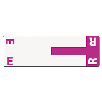Smead® Alpha-Z Color-Coded First Letter Name Labels, E & R, Purple, 100/Pack