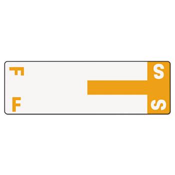 Smead® Alpha-Z Color-Coded First Letter Name Labels, F & S, Orange, 100/Pack