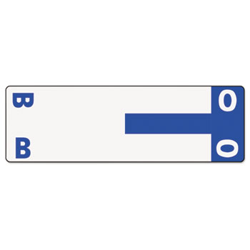 Smead® Alpha-Z Color-Coded First Letter Name Labels, B & O, Dark Blue, 100/Pack