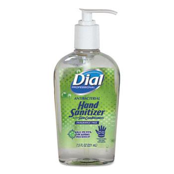 Dial® Professional Antibacterial Hand Sanitizer w/Moisturizers, 7.5 oz. Pump Bottle