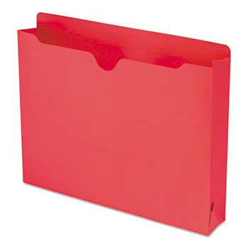 Smead® Colored File Jackets with Reinforced Double-Ply Tab, Letter, Red, 50/Box