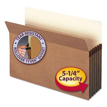 """Smead® 5 1/4"""" Exp File Pocket, Straight Tab, Legal, Manila/Redrope, 50/Bx"""