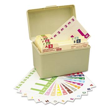 Smead® Alpha-Z Color-Coded First Letter Combo Alpha Labels Starter Set, A-Z, 1500/Box