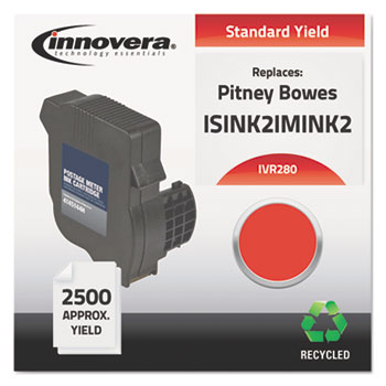 Innovera® Remanufactured Red Postage Meter Ink, Replacement for Neopost IM-280 (ISINK2IMINK2), 2,500 Page-Yield