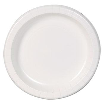 "Basic Paper Dinnerware, Plates, White, 8.5"" Diameter, 125/Pack"