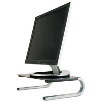 Allsop® Redmond Monitor Stand, 14 5/8 x 11 x 4 1/4, Black/Gray/Silver