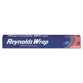 "Reynolds® Standard Aluminum Foil Roll, 12"" x 75 ft, Silver"