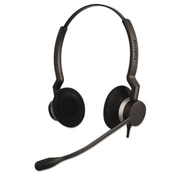 Jabra QD Binaural Over-the-Head Corded Headset