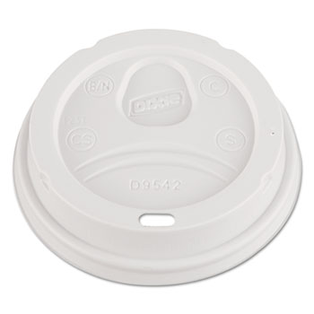 Lids, Fits 12 oz. & 16 oz (Large) Hot Cups, White, 100/Pack