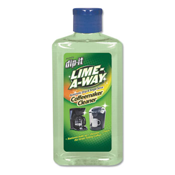LIME-A-WAY® Dip-It Coffeemaker Descaler and Cleaner, 7 oz Bottle, 8/Carton