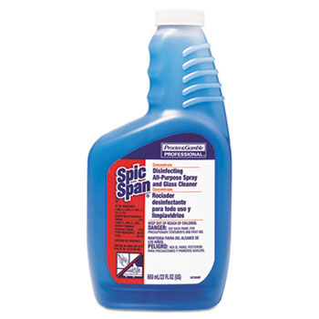 Spic and Span® Disinfecting All-Purpose Spray & Glass Cleaner, Concentrate Liquid, 22oz, 3/CT