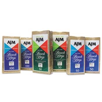 GEN Standard Paper Lunch Bags, 5 1/8w x 3 1/8d x 10 5/8h, Brown, 50/Carton