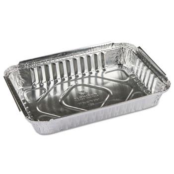 Pactiv Oblong Aluminum Food Pans, 25oz, 8w x 5 1/2d x 1 15/32h