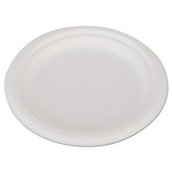 """SCT® ChampWare Heavyweight Bagasse Dinnerware, Plate, 6"""", White, 1000/Carton"""