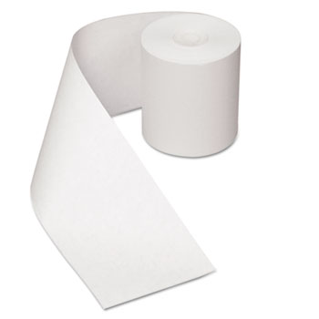 "Royal Paper Heat Sensitive Register Rolls, 3 1/8"" x 200 ft, 1 Ply, White, 30 Rolls/Carton"