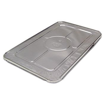 Pactiv FS Foil-Lam Food Container Lids, White/Aluminum, 20 3/4w x 12 3/4d, 80/Carton