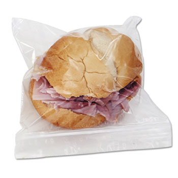 """Reclosable Food Storage Bags, Sandwich, 1.15 mil, 6.5"""" x 5.89"""", Clear, 500/Box"""