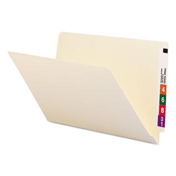 Smead® Shelf Folders, Straight Cut, Single-Ply End Tab, Legal, Manila, 100/Box