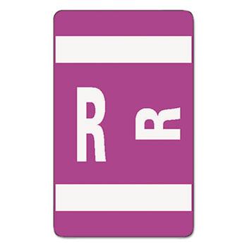 Smead® Alpha-Z Color-Coded Second Letter Labels, Letter R, Purple, 100/Pack