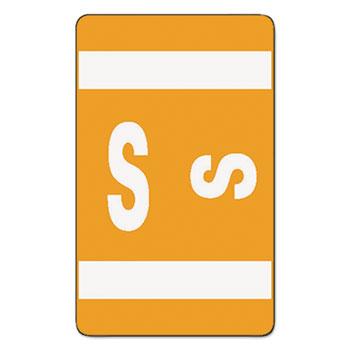 Smead® Alpha-Z Color-Coded Second Letter Labels, Letter S, Orange, 100/Pack