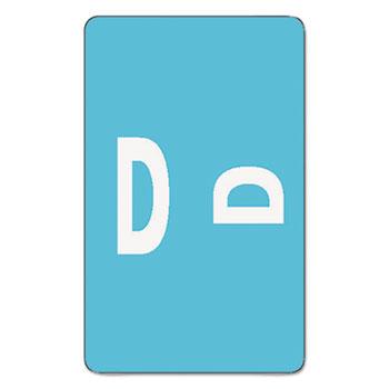 Smead® Alpha-Z Color-Coded Second Letter Labels, Letter D, Light Blue, 500/BX