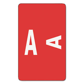 Smead® Alpha-Z Color-Coded Second Letter Labels, Letter A, Red, 100/Pack