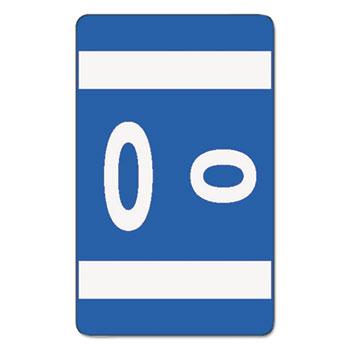 Smead® Alpha-Z Color-Coded Second Letter Labels, Letter O, Dark Blue, 100/Pack