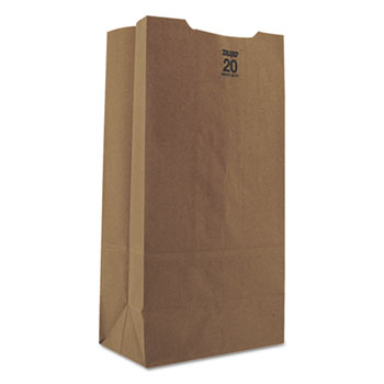 General 20# Paper Bag, Heavy-Duty, Brown Kraft,8-1/4 x 5-5/15 x 16-1/8, 500/Bundle