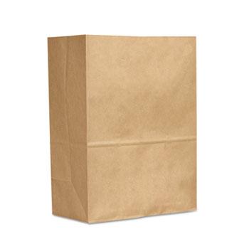 General 1/6 BBL 70# Paper Bag, E-Z Tote Handle Sack, Brown, 300-Bundle