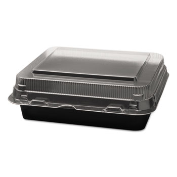 Specialty Containers, Black/Clear, 18oz, 6.22w x 5.91d x 2.09h, 200/Carton