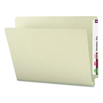 Smead® Heavy Duty Folders, End Tab, One Inch Expansion, Letter, Gray Green, 25/Box