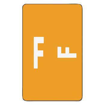 Smead® Alpha-Z Color-Coded Second Letter Labels, Letter F, Orange, 500/BX