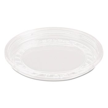 Bare Eco-Forward RPET Deli Container Lids, 8oz, Clear, 50/Pack, 10 Packs/Carton