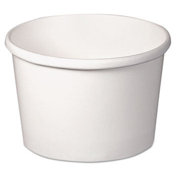 SOLO® Cup Company Flexstyle Double Poly Paper Containers, 8 oz, White, 25/Pack, 20/Carton