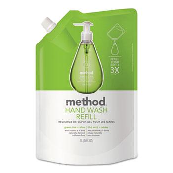 Gel Hand Wash Refill, 34 oz.,  Plastic Pouch, Green Tea & Aloe