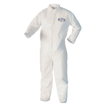 KleenGuard™ A20 Breathable Particle Protection Coveralls, M, White, 25/Carton
