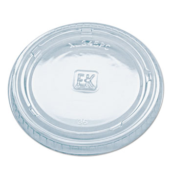Portion Cup Lids, Fits Portion Cups and Containers, Clear, 125/PK, 16 PK/CT