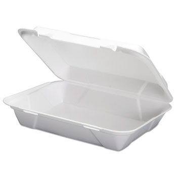 Genpak® Foam Hoagie Hinged Container, White, 9 3/4 x 3 2/5 x 13,  200/CT, 100/Bag, 2/CT