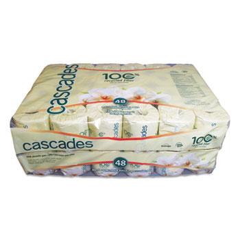 Cascades PRO Standard Bathroom Tissue, 2-Ply, 4 x 3 1/2, White, 336 Sheets/Roll, 48 Rolls/Ctn