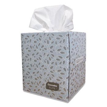 Cascades Elite Facial Tissue, 36 Boxes/Carton